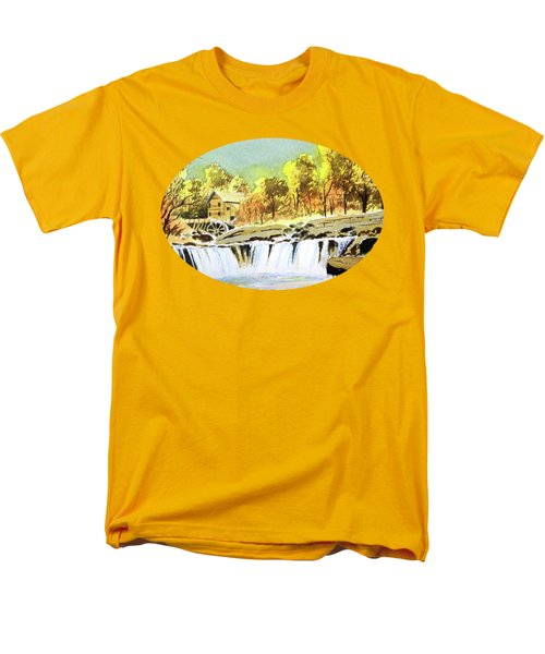 Men's T-Shirt  (Regular Fit) featuring the painting Babcock State Park West Virginia by Bill Holkham