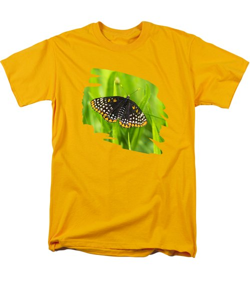 Baltimore Checkerspot Butterfly Men's T-Shirt  (Regular Fit) by Christina Rollo