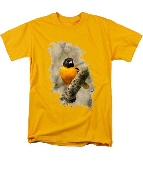 Baltimore Oriole Watercolor Art Men's T-Shirt  (Regular Fit)