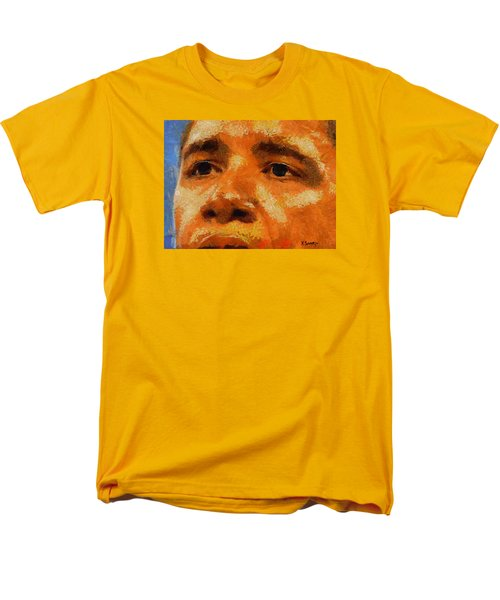Men's T-Shirt  (Regular Fit) featuring the painting Barack by Kai Saarto