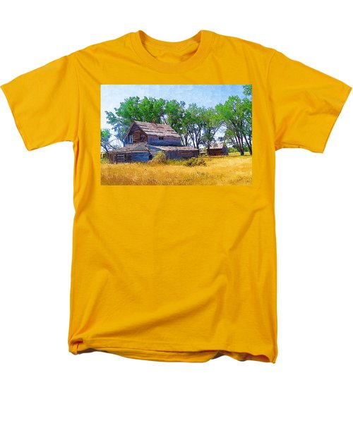 Men's T-Shirt  (Regular Fit) featuring the photograph Barber Homestead by Susan Kinney