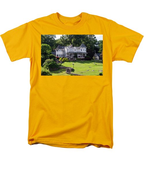 Men's T-Shirt  (Regular Fit) featuring the photograph Beautiful Home On Lake Hopatcong by Maureen E Ritter