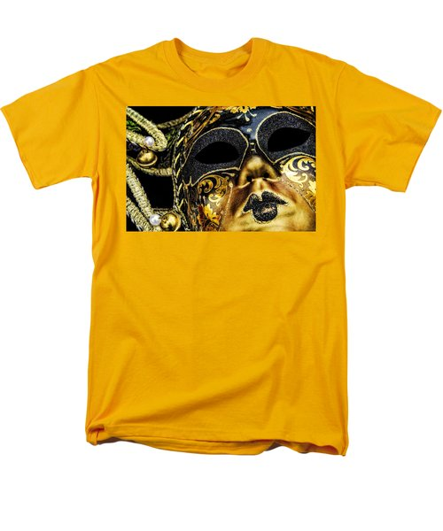 Men's T-Shirt  (Regular Fit) featuring the photograph Behind The Mask by Carolyn Marshall