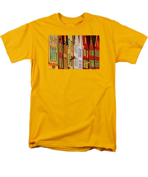 Men's T-Shirt  (Regular Fit) featuring the photograph Bergen Warehouses by Dennis Cox WorldViews