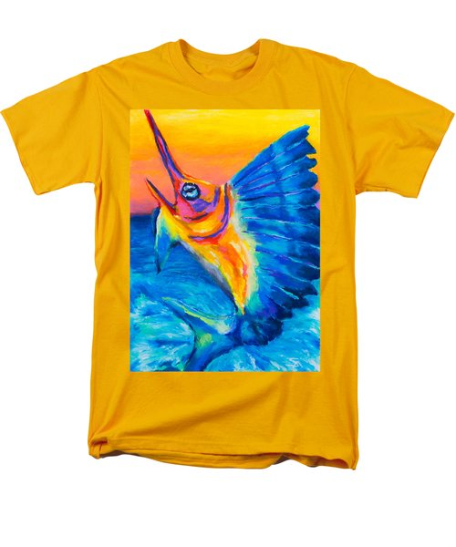 Men's T-Shirt  (Regular Fit) featuring the painting Big Blue by Stephen Anderson