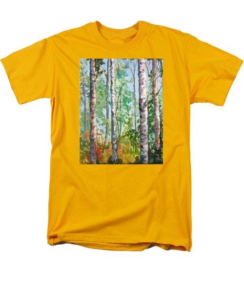 Birch Men's T-Shirt  (Regular Fit) by Barbara O'Toole