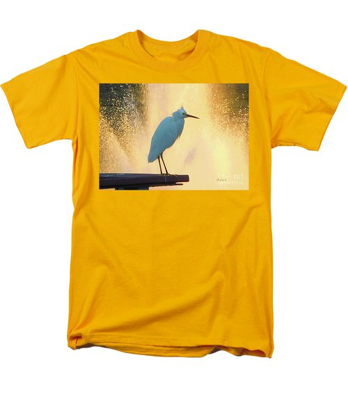Birds And Fun At Butler Park Austin - Birds 3 Detail Macro Men's T-Shirt  (Regular Fit) by Felipe Adan Lerma