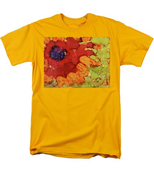 Blooming Cactus Men's T-Shirt  (Regular Fit) by Cynthia Powell