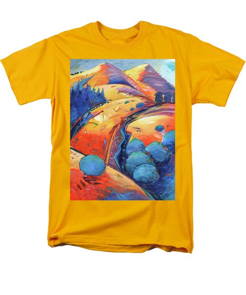 Blue And Gold Men's T-Shirt  (Regular Fit) by Gary Coleman