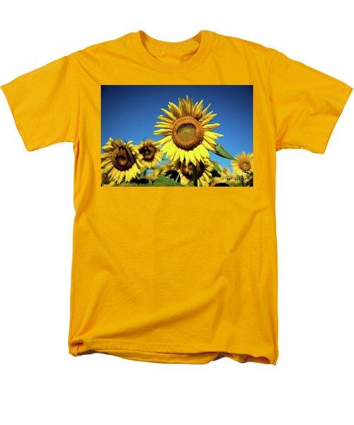 Blue And Gold Men's T-Shirt  (Regular Fit)