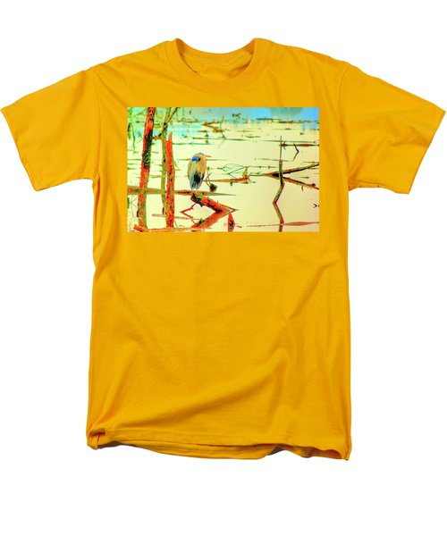 Blue Heron Men's T-Shirt  (Regular Fit) by Dale Stillman