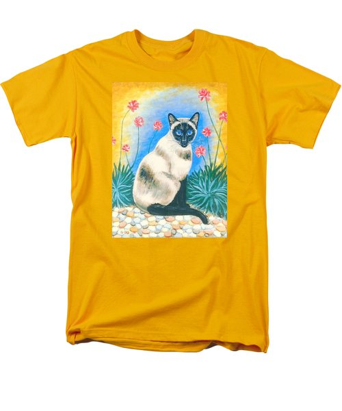Blue Kitty Men's T-Shirt  (Regular Fit) by George I Perez