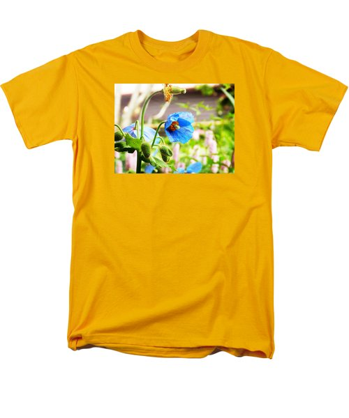 Men's T-Shirt  (Regular Fit) featuring the photograph Blue Poppy by Zinvolle Art