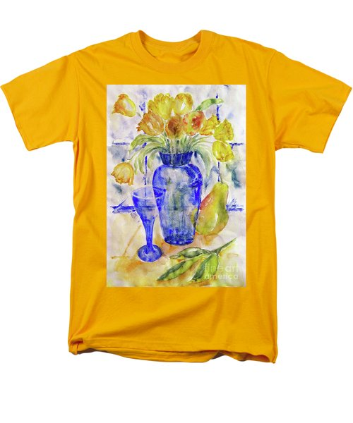 Blue Vase Men's T-Shirt  (Regular Fit) by Jasna Dragun