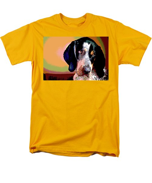 Bluetick Coonhound Men's T-Shirt  (Regular Fit) by Charles Shoup