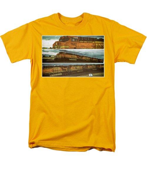 Bnsf 7682 Triptych  Men's T-Shirt  (Regular Fit) by Bartz Johnson