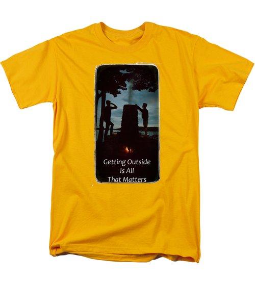 Boys Looking On Men's T-Shirt  (Regular Fit) by Jeff Folger