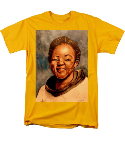 Men's T-Shirt  (Regular Fit) featuring the painting Brenda  by Betty-Anne McDonald