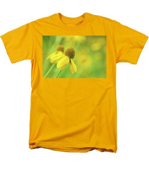 Bright Yellow Flower Men's T-Shirt  (Regular Fit) by David Stasiak