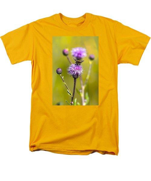 Men's T-Shirt  (Regular Fit) featuring the photograph Bumblebee Aug 2015 by Leif Sohlman