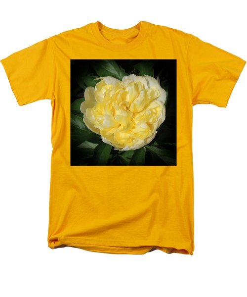Buttercream Peony Men's T-Shirt  (Regular Fit) by Teresa Schomig