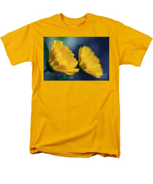 Men's T-Shirt  (Regular Fit) featuring the photograph Calendula Flowers by Sharon Mau