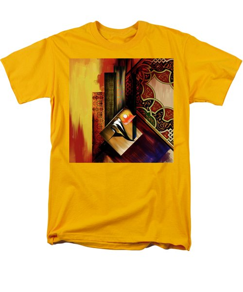 Men's T-Shirt  (Regular Fit) featuring the painting Calligraphy 102  2 1 by Mawra Tahreem