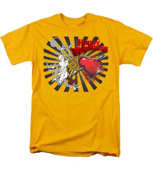 Men's T-Shirt  (Regular Fit) featuring the photograph Card Valentine Cherub by Robert G Kernodle