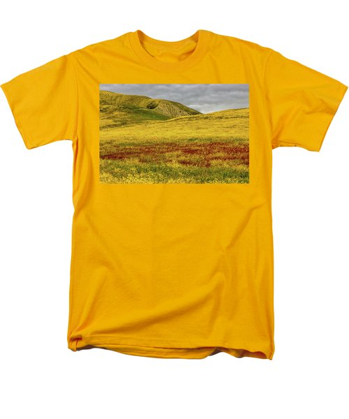 Men's T-Shirt  (Regular Fit) featuring the photograph Carrizo  Plain Super Bloom 2017 by Peter Tellone