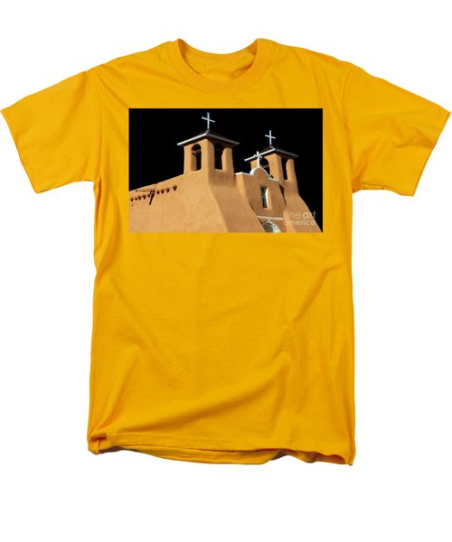St Francis De Assi Church  New Mexico Men's T-Shirt  (Regular Fit) by Bob Christopher