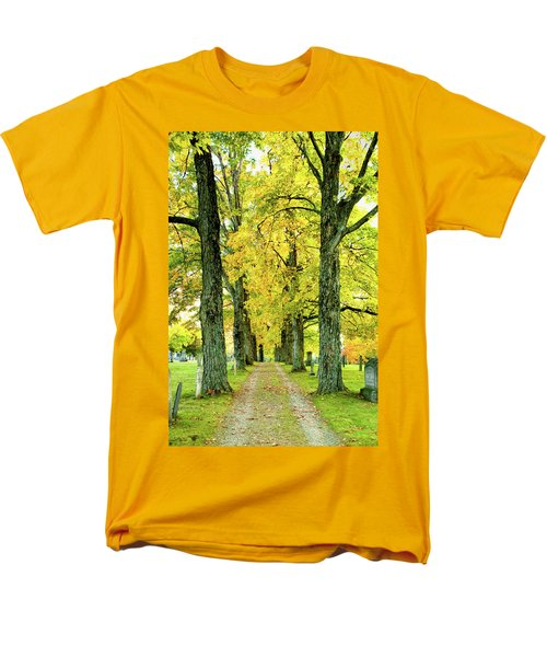 Men's T-Shirt  (Regular Fit) featuring the photograph Cemetery Lane by Greg Fortier