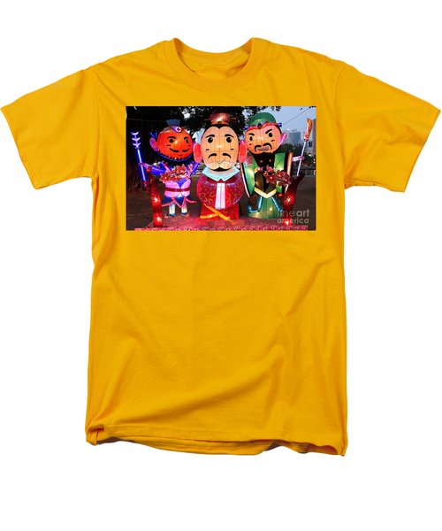 Men's T-Shirt  (Regular Fit) featuring the photograph Chinese Lanterns In The Shape Of Three Wise Men by Yali Shi