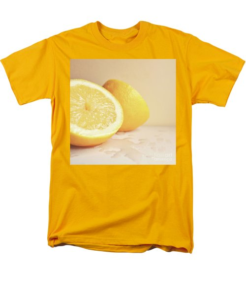 Men's T-Shirt  (Regular Fit) featuring the photograph Chopped Lemon by Lyn Randle
