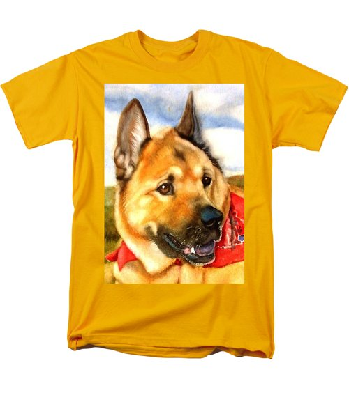 Chow Shepherd Mix Men's T-Shirt  (Regular Fit) by Marilyn Jacobson