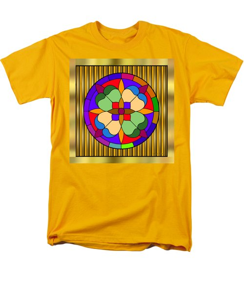 Circle On Bars 4 Men's T-Shirt  (Regular Fit) by Chuck Staley