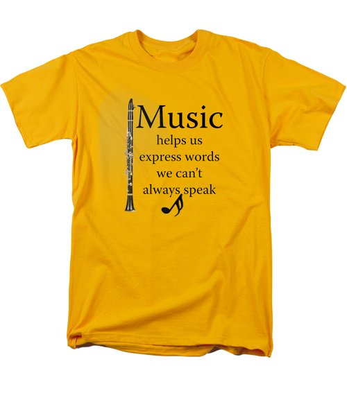 Clarinet Music Expresses Words Men's T-Shirt  (Regular Fit) by M K  Miller