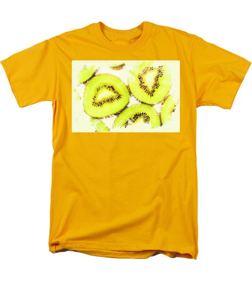 Close Up Of Kiwi Slices Men's T-Shirt  (Regular Fit) by Jorgo Photography - Wall Art Gallery