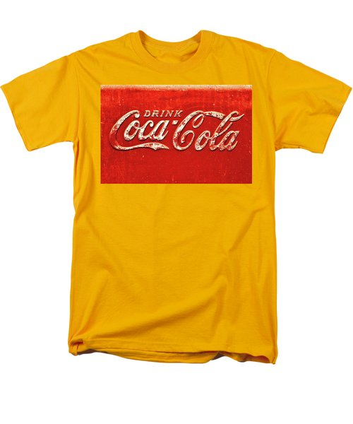 Coca Cola Rustic Men's T-Shirt  (Regular Fit) by Stephen Anderson