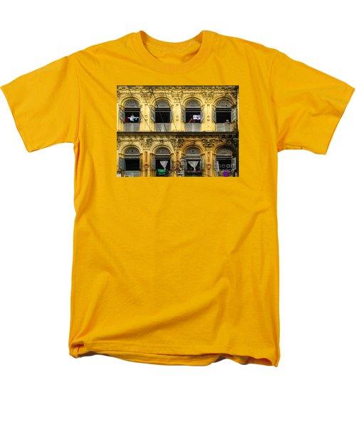 Colonial Facade Bo Soon Pat Street 8th Ward Central Yangon Burma Men's T-Shirt  (Regular Fit) by Ralph A  Ledergerber-Photography