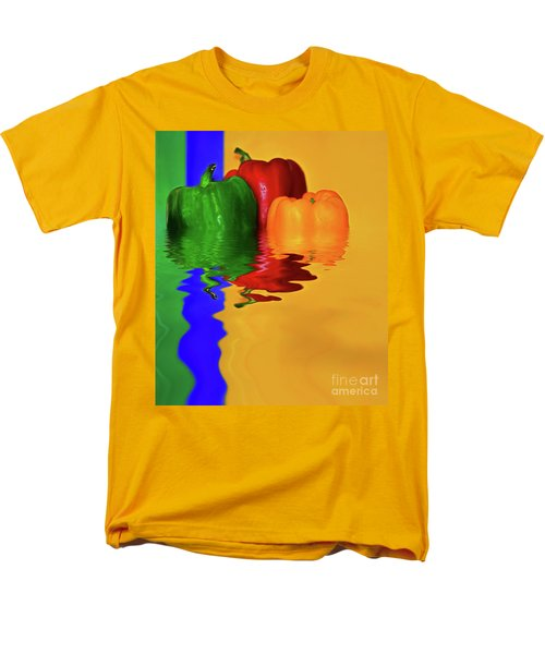 Men's T-Shirt  (Regular Fit) featuring the photograph Color Pop Peppers By Kaye Menner by Kaye Menner