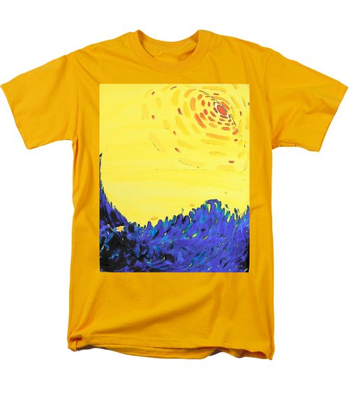 Men's T-Shirt  (Regular Fit) featuring the painting Comet by Lenore Senior