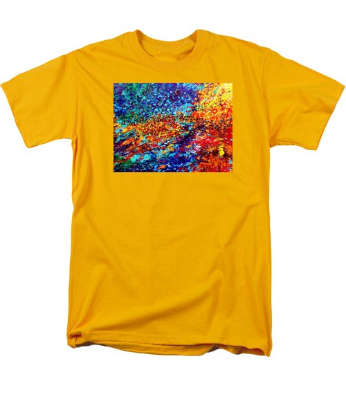 Composition # 5. Series Abstract Sunsets Men's T-Shirt  (Regular Fit) by Helen Kagan