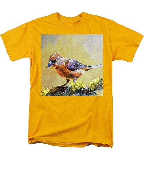 Crossbill Men's T-Shirt  (Regular Fit) by Jan Hardenburger