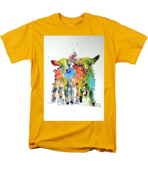 Cute Baby Goats Men's T-Shirt  (Regular Fit) by Kovacs Anna Brigitta