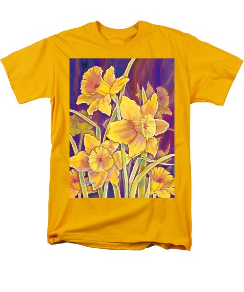 Men's T-Shirt  (Regular Fit) featuring the mixed media Daffodils by Teresa Ascone