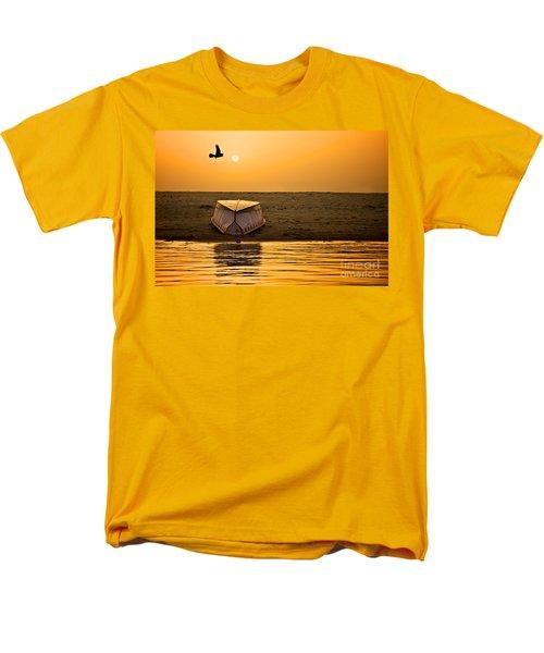 Dawn On The Ganga Men's T-Shirt  (Regular Fit) by Valerie Rosen