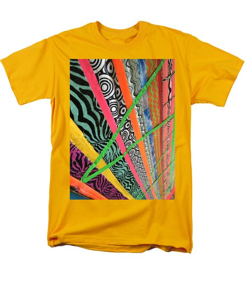 Men's T-Shirt  (Regular Fit) featuring the photograph Dazzling Delirious Duct Tape Diagonals by Douglas Fromm