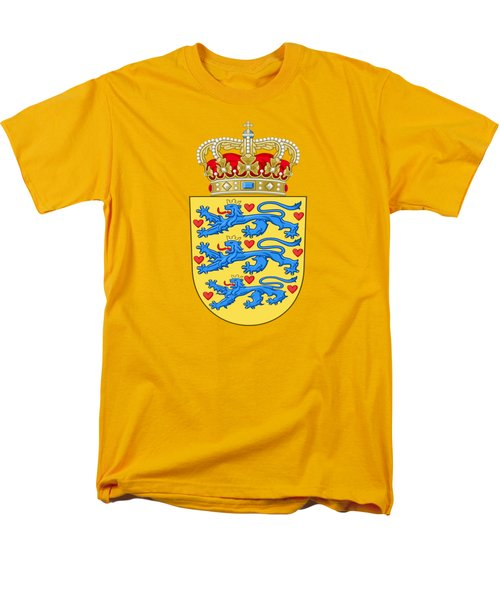 Denmark Coat Of Arms Men's T-Shirt  (Regular Fit) by Movie Poster Prints