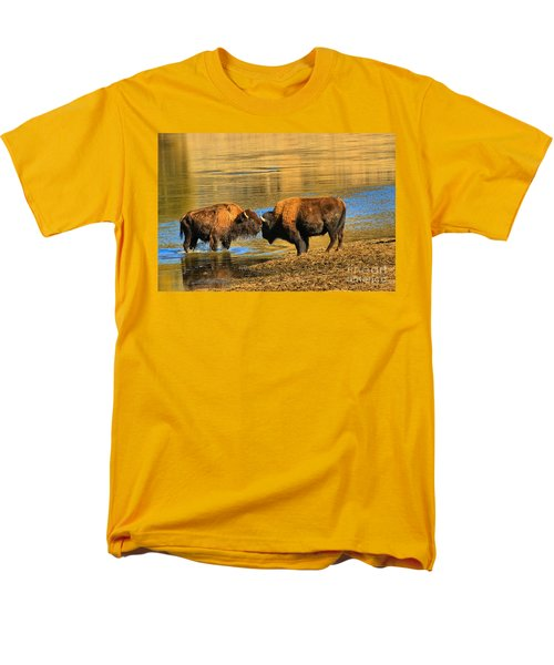Men's T-Shirt  (Regular Fit) featuring the photograph Discussing The Crossing by Adam Jewell