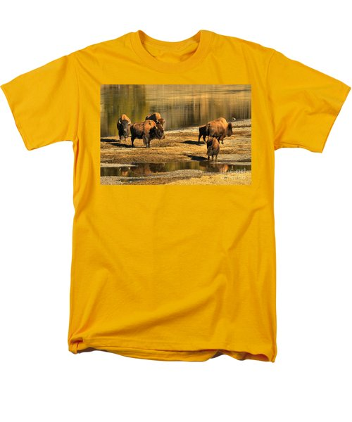 Men's T-Shirt  (Regular Fit) featuring the photograph Discussing The River Crossing by Adam Jewell